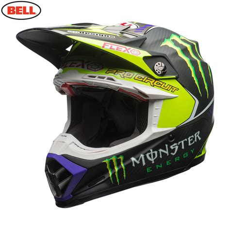 monster helmet motocross 2017 bell moto 9 carbon flex helmet pro circuit monster