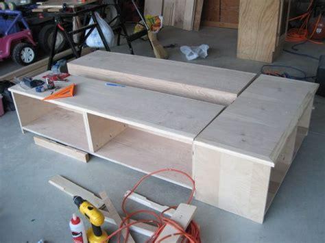 building plans bed frame  drawers