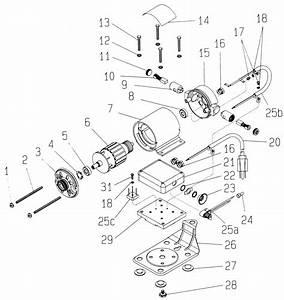 Dumore Series 6 Flexible Shaft Grinder Replacement Parts