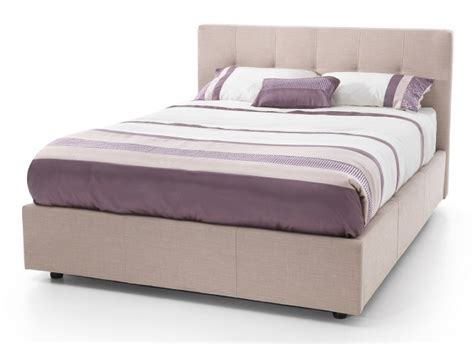 ottoman for foot of bed serene lucca 4ft small double stone fabric ottoman bed