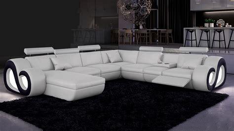 canapé d angle panoramique canap 195 169 d angle cuir design panoramique fritsch avec lumi 195 168 re