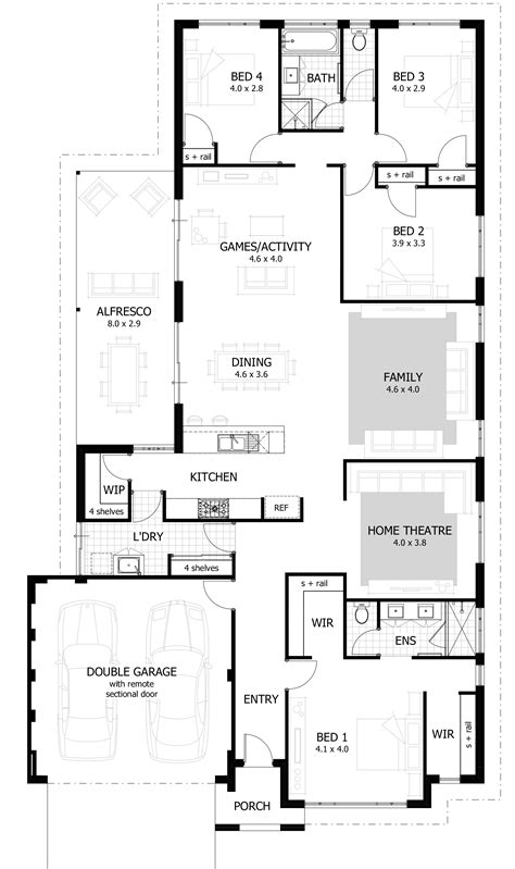 house with 4 bedrooms 4 bedroom house plans home designs celebration homes