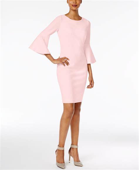 calvin klein bell sleeve sheath dress woman  dress
