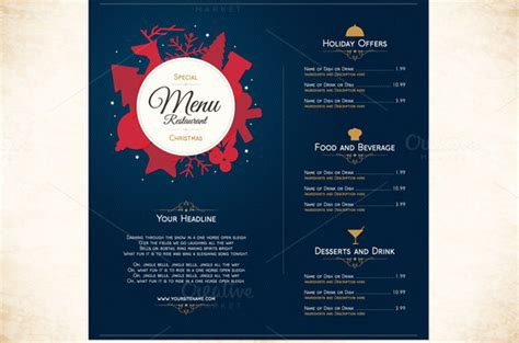 amazing food drink brochure templates  psd ai