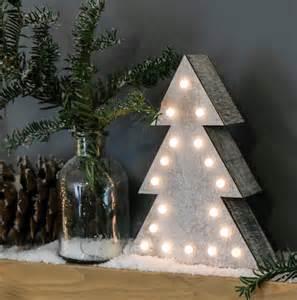 wooden battery light up tree warm white leds festoon lighting