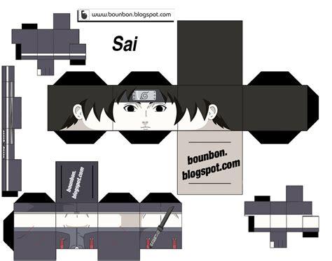 wwwbounbonblogspotcom papercraft naruto series