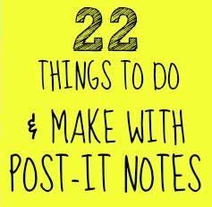 22 Post-it Crafts {Post it Art} - C R A F T