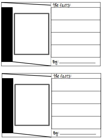 how to make a blank card template trading cards template classroom freebies