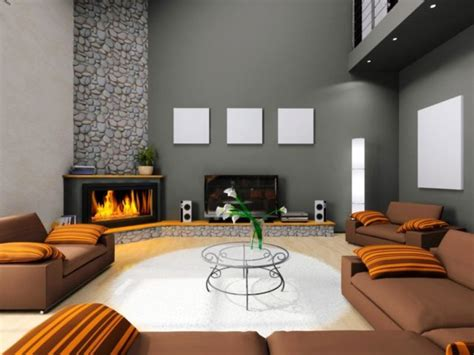 Modern Living Rooms Fireplaces
