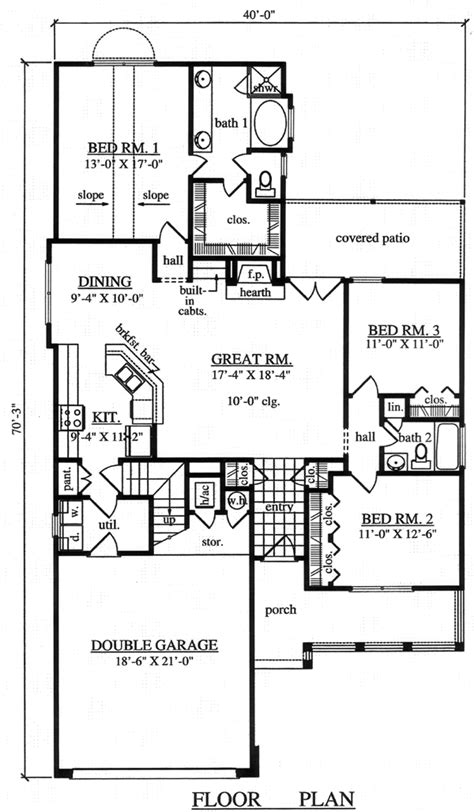 Country Style House Plan 75005 with 3 Bed 3 Bath 2 Car
