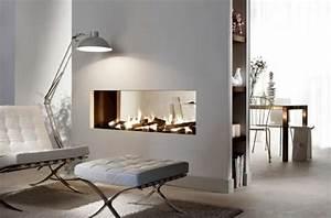 Kamin Als Raumtrenner : trennwand eingebauter kamin stehlampe teppich hausbau ideen innen pinterest raumtrenner ~ Indierocktalk.com Haus und Dekorationen