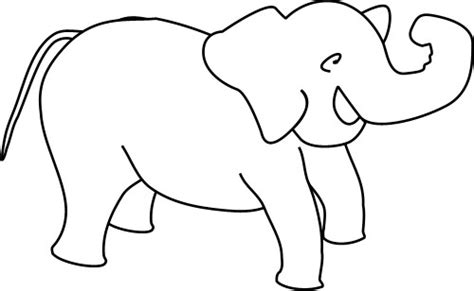 outline drawing   elephant animals