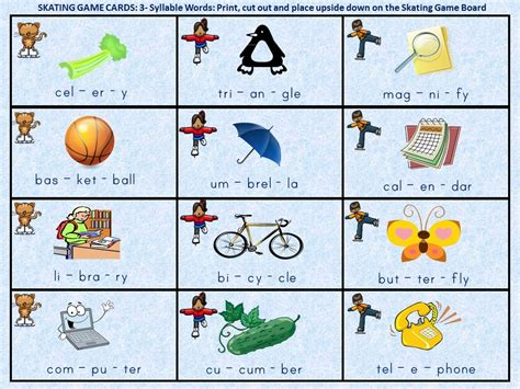3-4 Syllable Word Reading Or Verbal