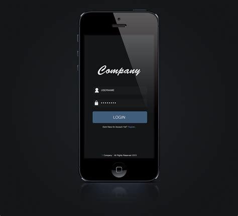 iphone login iphone 5 app login concept by martinberthelsen on deviantart
