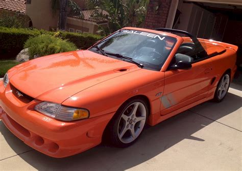 bright tangerine  saleen  ford mustang convertible