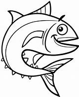 Tuna Fish Coloring Topcoloringpages Water Sea Animals sketch template