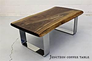 custom wood coffee tables made live edge black walnut With custom made wood coffee tables