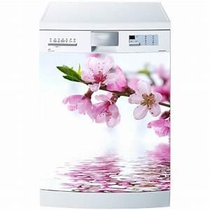 Stickers Effet Miroir : sticker pour lave vaisselle fleur effet miroir stickers autocollants ~ Teatrodelosmanantiales.com Idées de Décoration