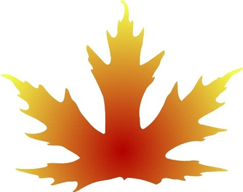 Maple Leaf Clip Art Free Vector In Open Office Drawing Svg