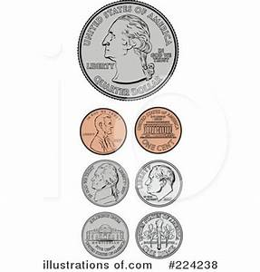 Coins Clipart #224238 - Illustration by BestVector