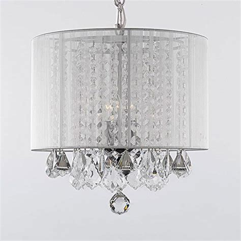 White Drum Shade Chandelier by Drum Shade Chandeliers With Crystals