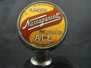 famous narragansett gold label ale beer tap knob With beer tap labels