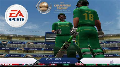 ea cricket  champions trophy  patch pakistan  india  gameplay youtube