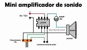 Circuito Diagrama De Un Mini Amplificador De Sonido Cas