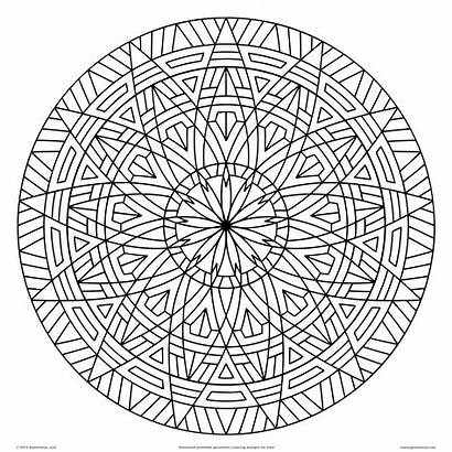 Coloring Pages Graphic Geometric Printable Designs Shape