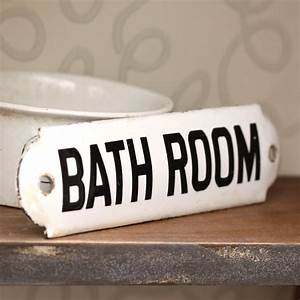 Antique enamel bathroom sign sold for Antique bathroom sign