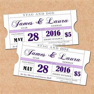 purple printable stag and doe tickets diy wedding With stag and doe ticket templates