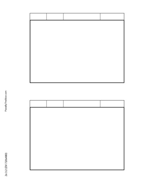 blank storyboard templates pizza   slice