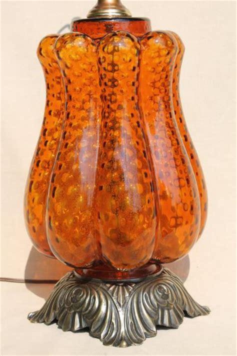 huge retro italian art glass table lamp  hand blown