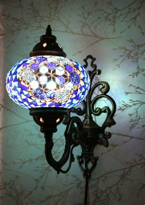 multicolour turkish moroccan style mosaic wall sconce