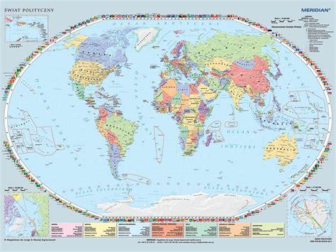 Największa mapa świata - rekord Polski | MERIDIAN Mapy ...