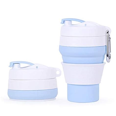 Disposable compostable coffee cups with lids, stirrers, and sleeves. silicone collapsible cup, reusable coffee cup with lid, folding travel cup for camping hiking ...