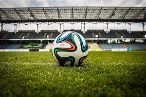 White Black and Green Soccer Ball on Soccer Field · Free ...