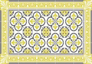 Set De Table Jaune : set de table carreaux de ciment garance jaune moutarde ~ Teatrodelosmanantiales.com Idées de Décoration