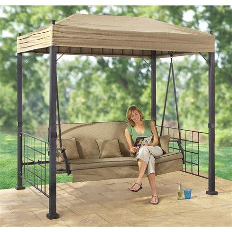 outdoor oasis gazebo sydney gazebo swing 138442 patio furniture at sportsman