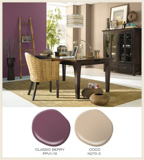 colorfully behr color   month berry red