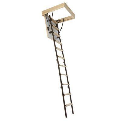 escalier escamotable mac allister en bois avec trappe de 60cm 233 p 26 mm castorama
