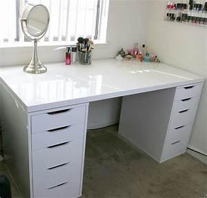 Table De Bureau Ikea : table bureau ikea nice white makeup vanity and storage ikea linnmon alex ~ Teatrodelosmanantiales.com Idées de Décoration