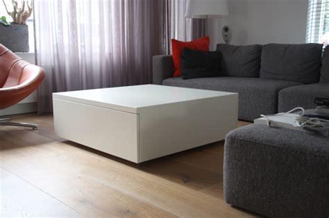 lade da cucina moderne vierkante salontafel met laden