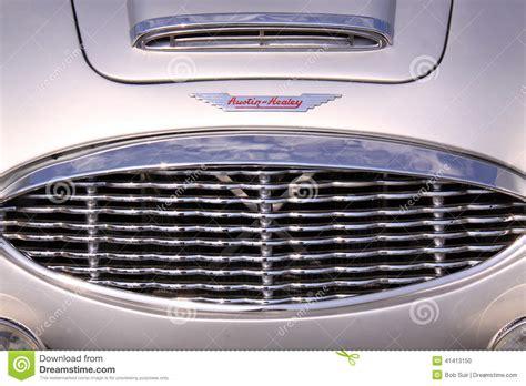 Austin Healey Oldtimer Car Grill Editorial Image