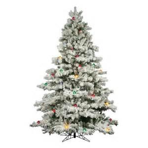 vickerman 01524 7 5 x 68 quot flocked alaskan 800 multi color lights christmas tree a806378