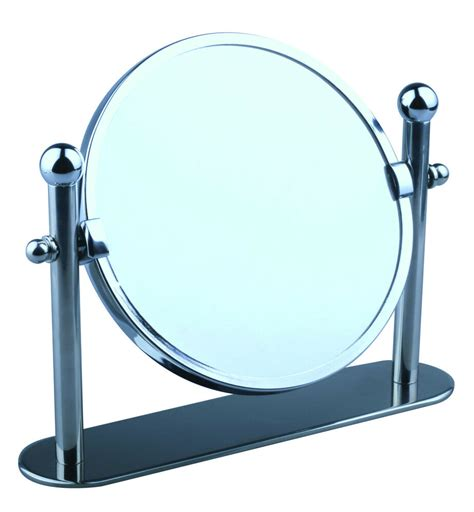 Bathroom Mirror Free Standing by Swivel Chrome Magnifying Free Standing Pedestal Cosmetic