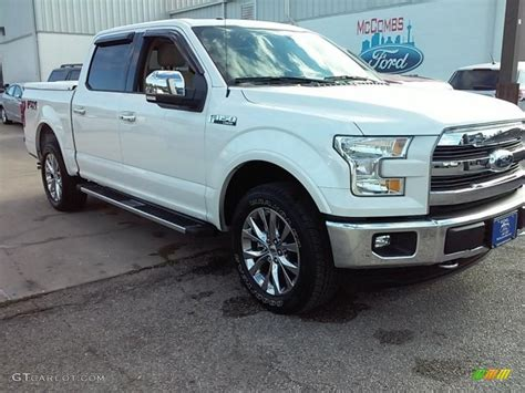ford truck white 2015 white platinum tricoat ford f150 lariat supercrew 4x4