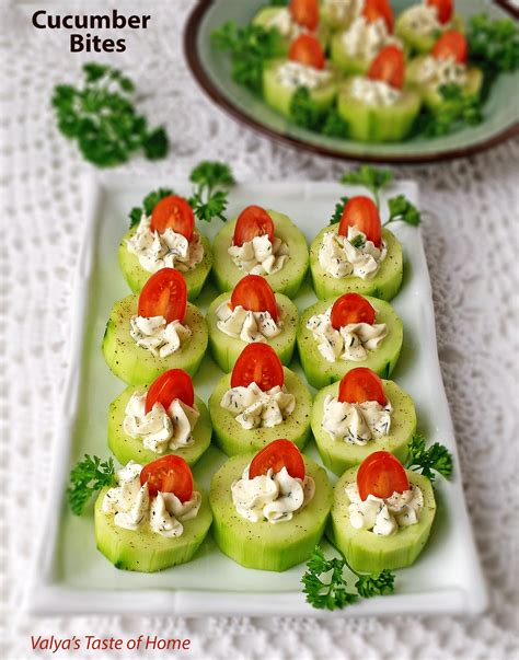Cucumber Bites Appetizers  Valya's Taste Of Home