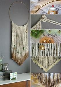 Wandgestaltung Selber Machen : wandbehang deko selber machen als coole idee f r ~ Lizthompson.info Haus und Dekorationen