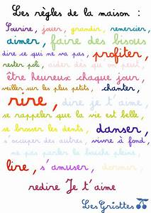 Regle De La Maison A Imprimer : r gles de la maison amour bonheur famille a imprimer ~ Dode.kayakingforconservation.com Idées de Décoration